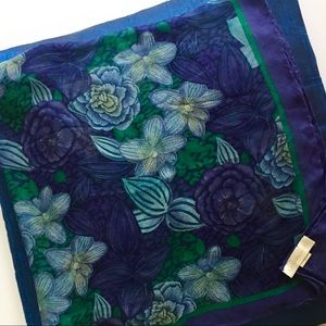 Gorgeous Extra Large Silk Floral Wrap Scarf